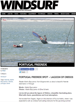 article lagoa obidos windsurf portugal